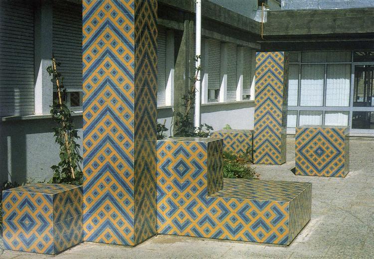 Pátio do Centro de Saúde de Mértola, 1981 - Eduardo Nery