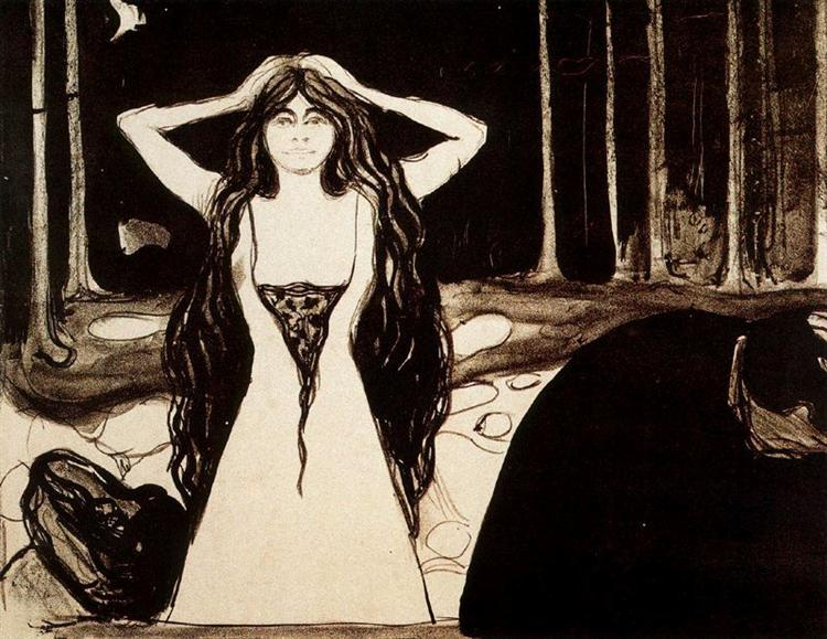 Ashes II, 1896 - Edvard Munch