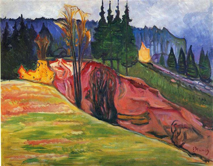 From Thuringewald, 1905 - Edvard Munch