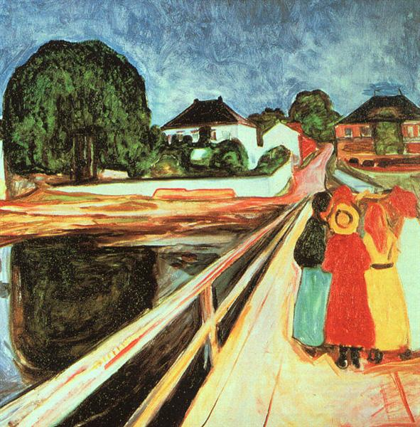 Girls on a Bridge, 1899 - 1900 - Edvard Munch