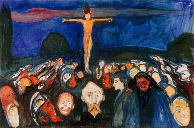 Golgotha, 1900 - Edvard Munch