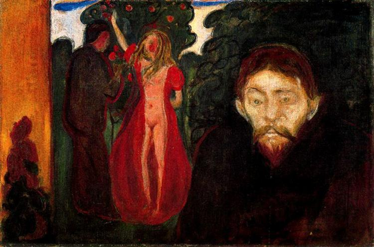 Jealousy, 1895 - Edvard Munch