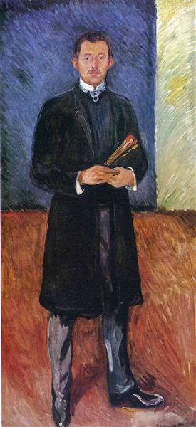 Self-Portrait with Brushes, 1904 - Edvard Munch