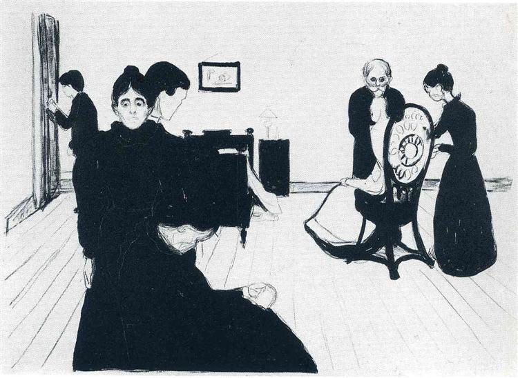 The Death Chamber, 1896 - Edvard Munch