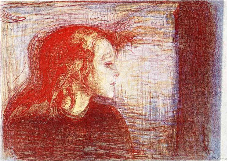 The Sick Child II, 1896 - Edvard Munch