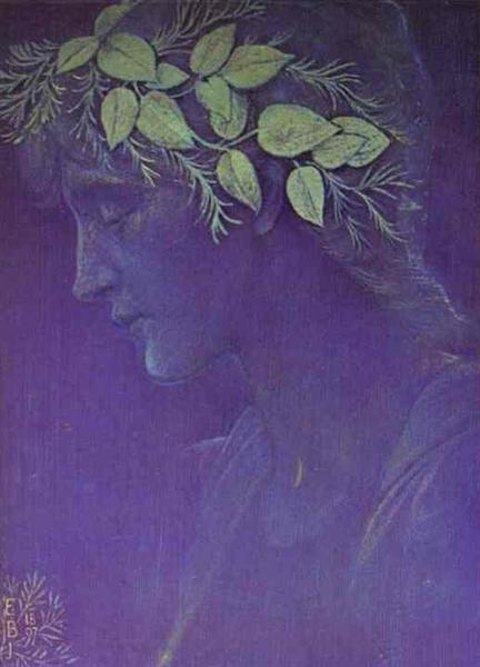 Girl's Head, 1897 - Edward Burne-Jones
