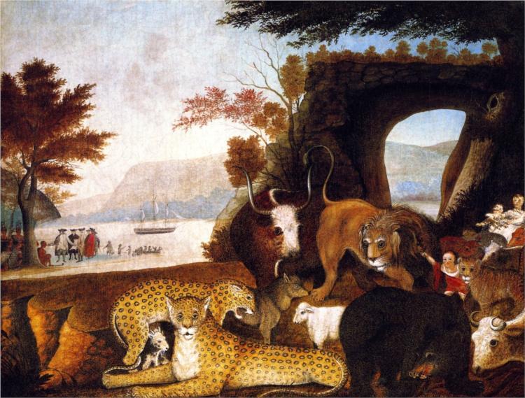 A 'Peaceable Kingdom' in primitive paint