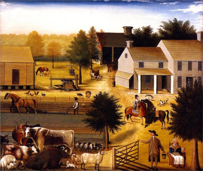 The Residence of David Twining 1787, 1847 - Edward Hicks