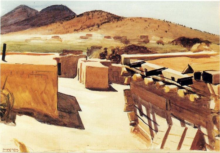 Adobe Houses, 1925 - Edward Hopper