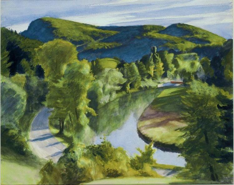 First Branch of the White River, Vermont, 1938 - Edward Hopper