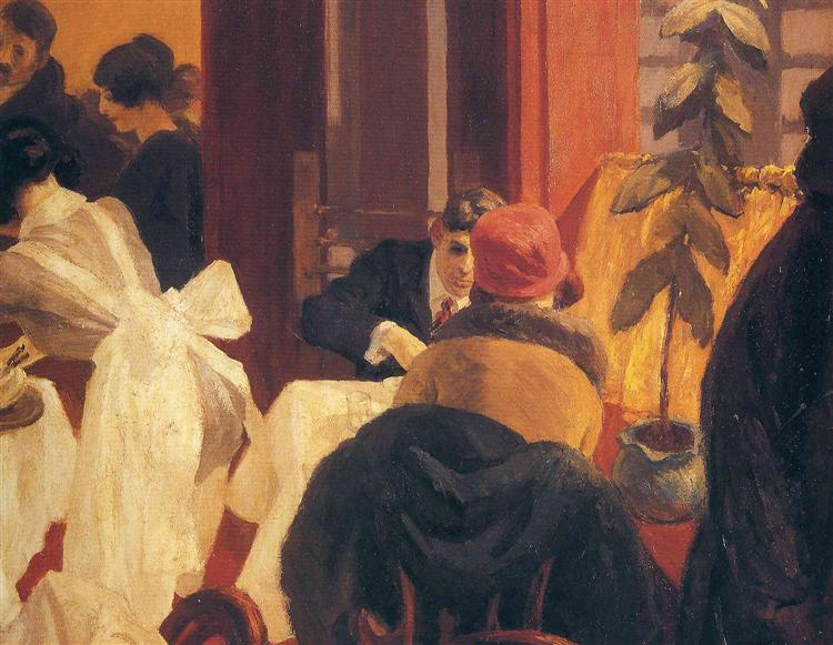 New York Restaurant, 1922 - Edward Hopper