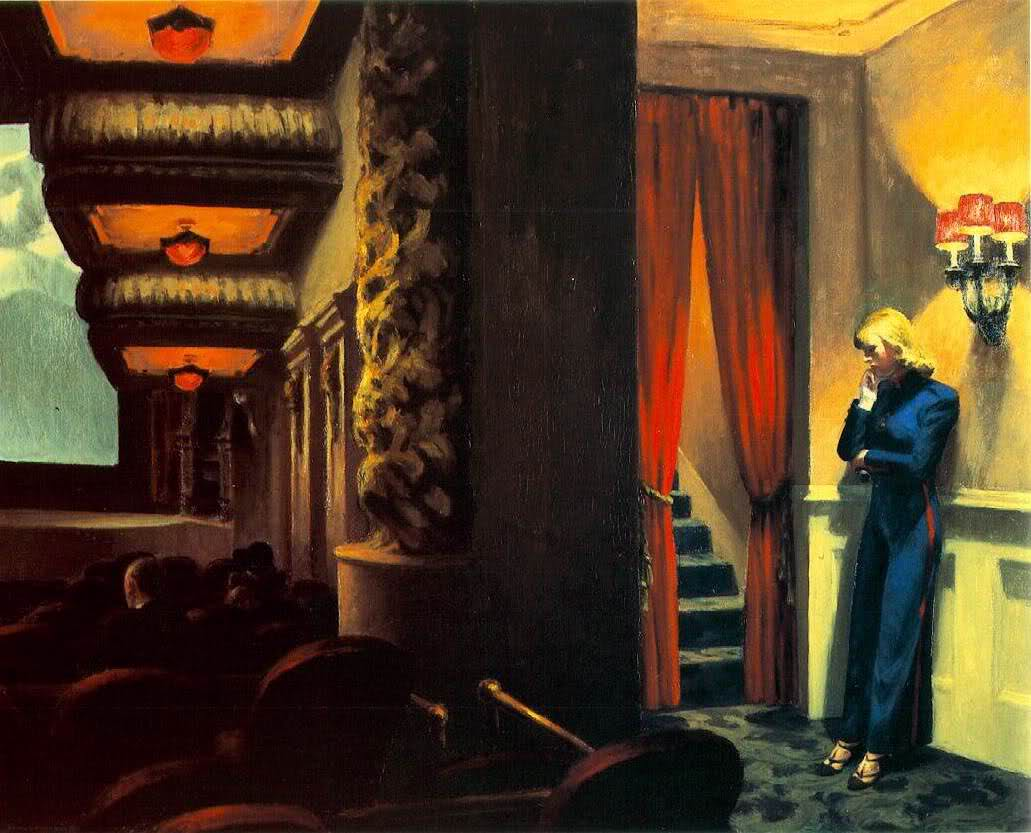 The Figures Are Alienated From Each Other Their Surroundings Artist And Viewer Hopper Depicts Progress Of America