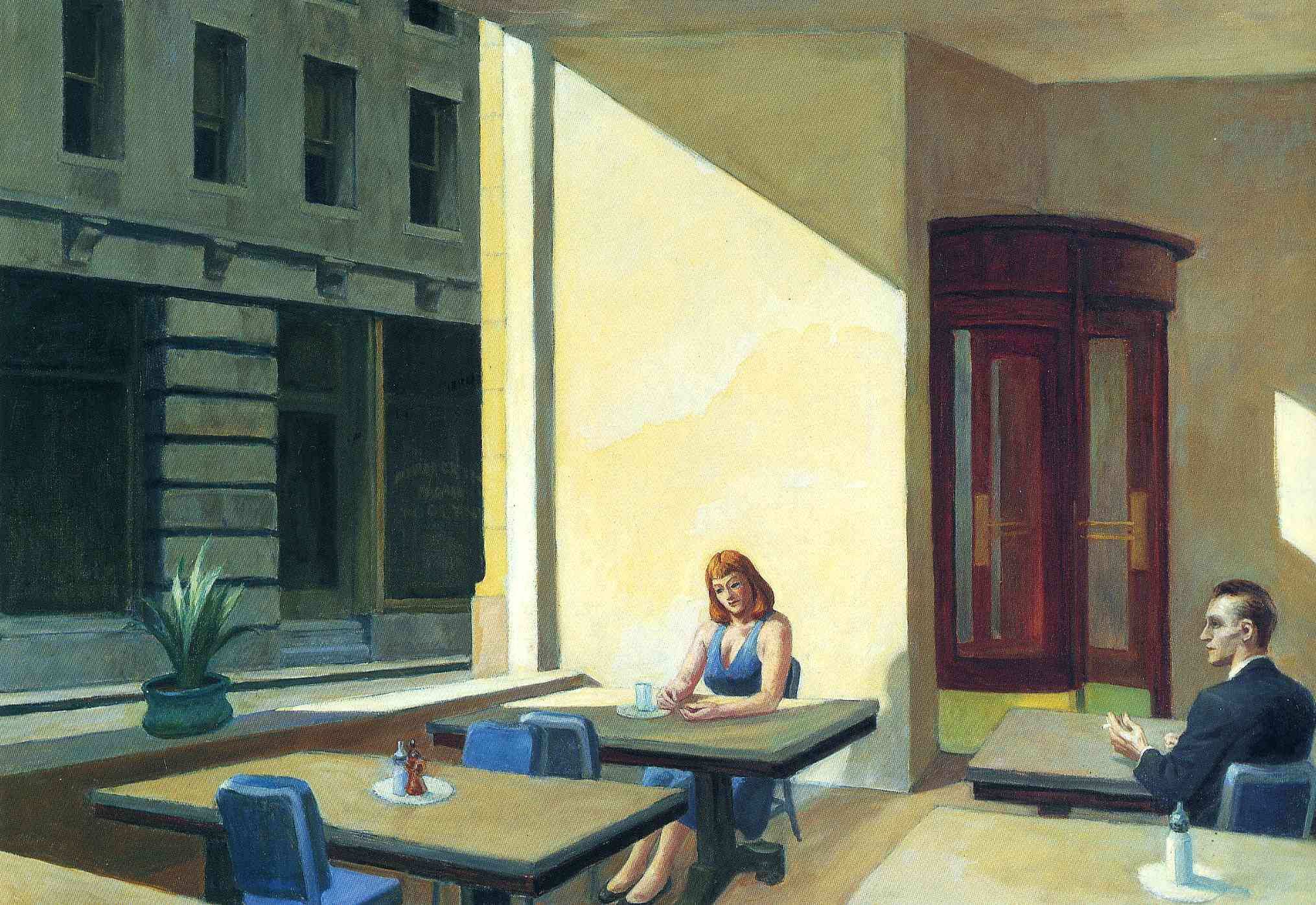 Sunlights In Cafeteria 1958 Edward Hopper