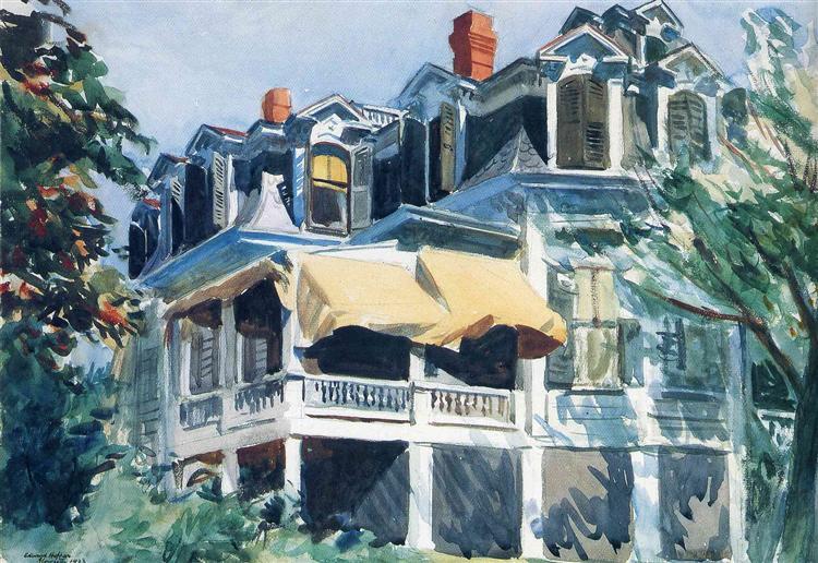 The Mansard Roof, 1923 - Edward Hopper
