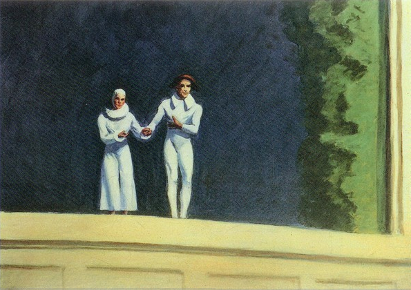 Two Comedians, 1965 - Edward Hopper