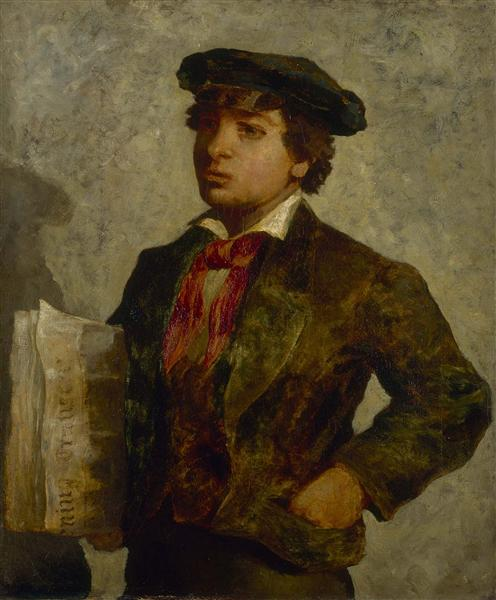 Newspaper Boy - Edward Mitchell Bannister