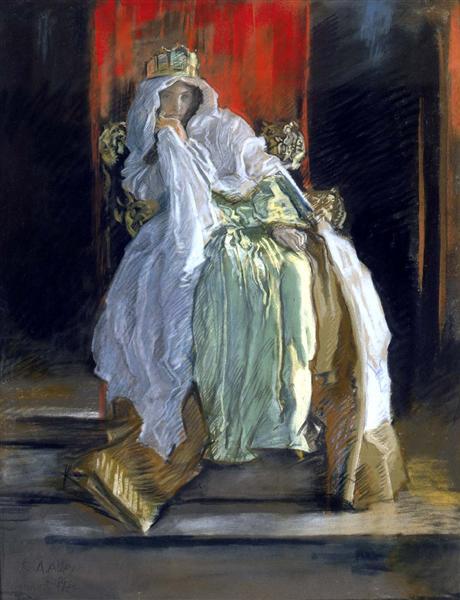 La reine dans Hamlet, 1895 - Edwin Austin Abbey