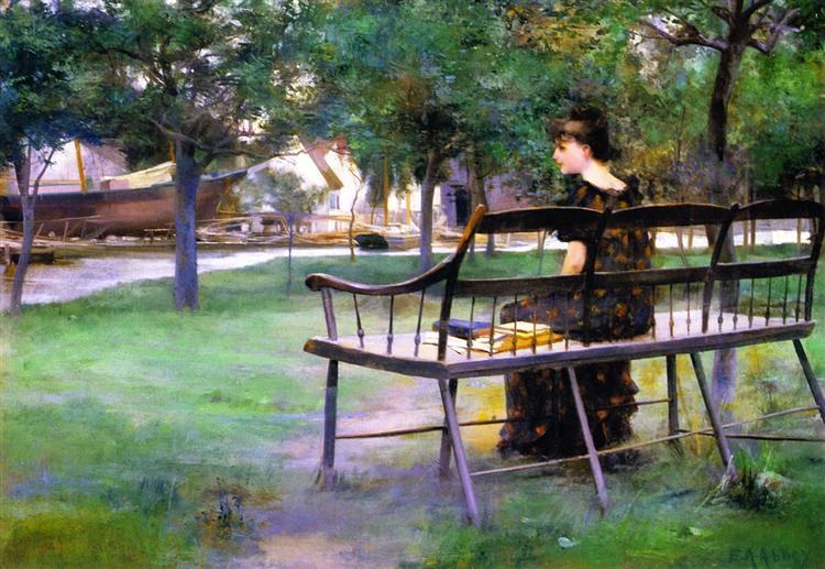Woman on a Bench - Edwin Austin Abbey