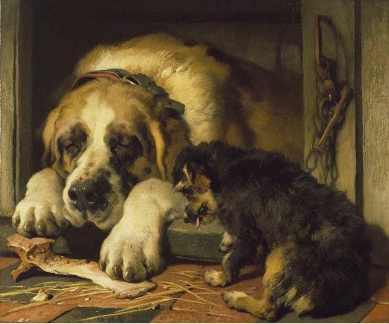 Doubtful Crumbs, 1858 - Edwin Henry Landseer