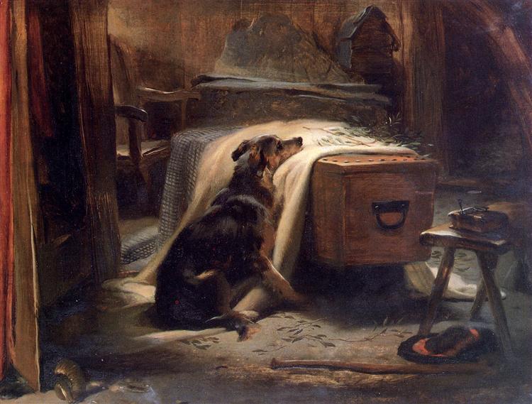 The Old Shepherd's Chief Mourner, 1837 - Edwin Henry Landseer