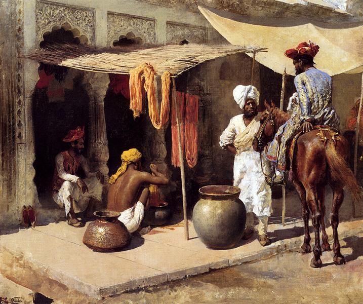 Outside An Indian Dye House, c.1885 - Edwin Lord Weeks