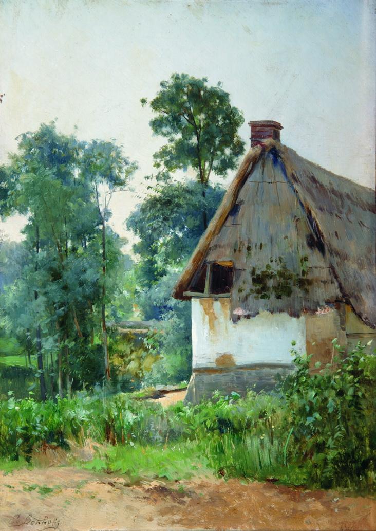 Landscape with an Abandoned House, 1897 - Efim Volkov