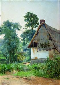 Landscape with an Abandoned House - Efim Volkov