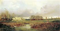 Marsh in Autumn - Ефим Волков