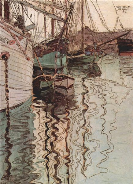 Harbor of Trieste - Schiele Egon