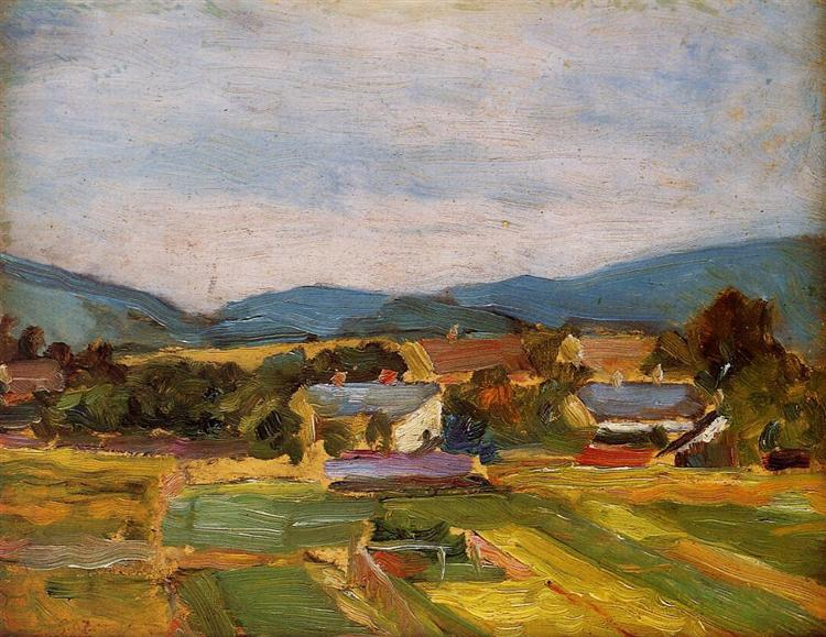 Landscape in Lower Austria, 1907 - Egon Schiele
