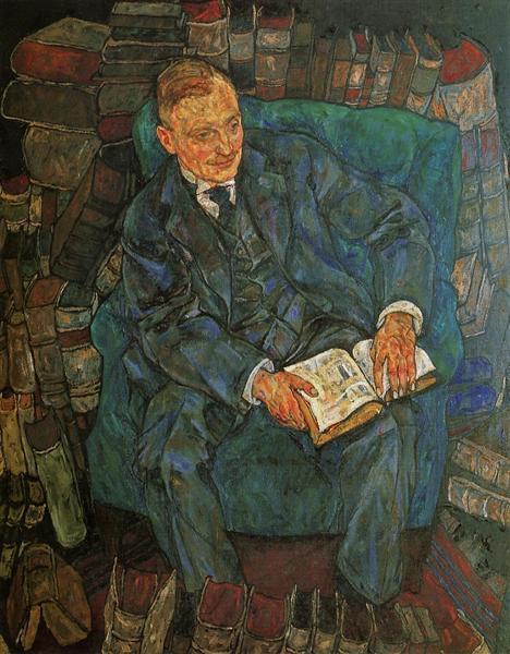 Portrait of Dr. Hugo Koller, 1918 - Егон Шиле