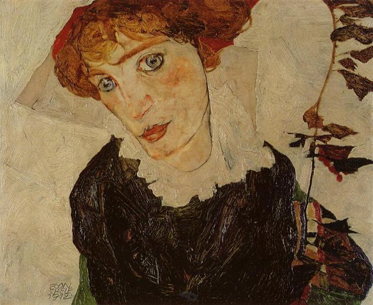 Portrait of Valerie Neuzil - Egon Schiele