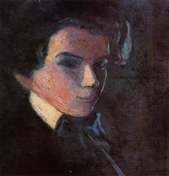 Self Portrait, Facing Right, 1907 - Egon Schiele