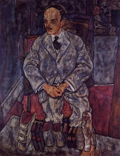 The Art Dealer Guido Arnot, 1918 - Egon Schiele