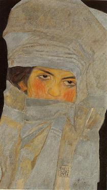 The Artist's Sister, Melanie - Эгон Шиле