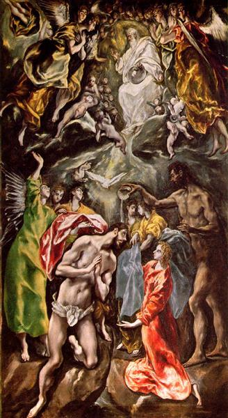 Baptism of Christ, c.1608 - El Greco