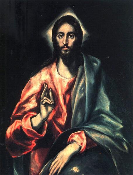 Christ as Saviour, c.1612 - El Greco