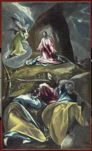 Christ In The Olive Garden C 1600 El Greco Wikiart Org