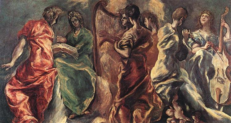Concert of Angels, c.1610 - El Greco