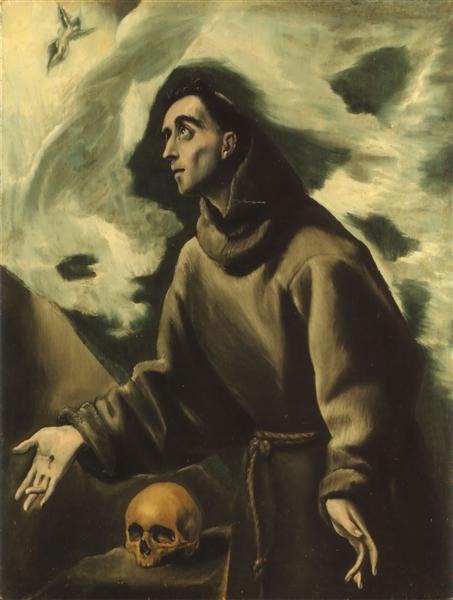 St. Francis receiving the stigmata, c.1590 - El Greco