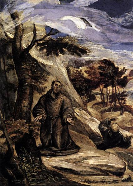 St. Francis receiving the stigmata, c.1571 - El Greco