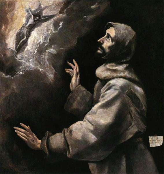 St. Francis receiving the stigmata, c.1590 - El Greco