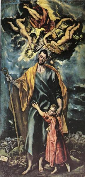 St. Joseph and the Christ Child, 1599 - El Greco