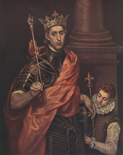 St. Louis King of France with a Page, c.1590 - El Greco