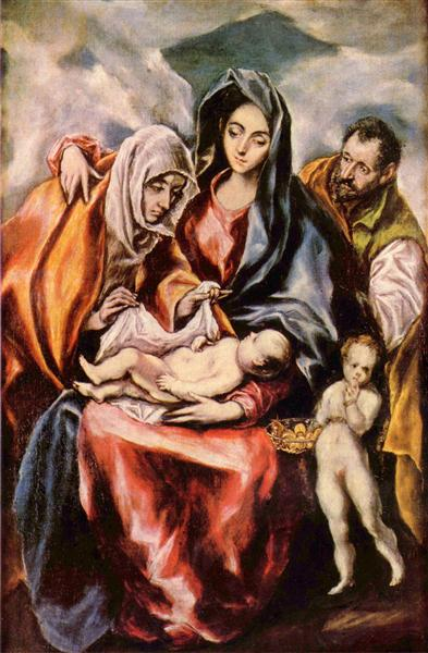 The Holy Family with St. Anne and the Young St. John the Baptist, c.1601 - El Greco