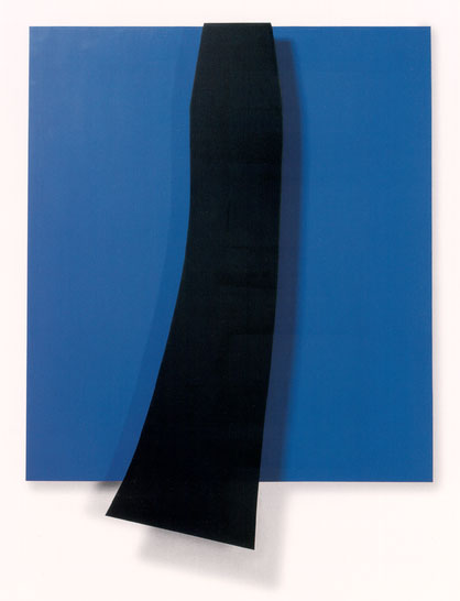 Black over Blue, 1963 - Ellsworth Kelly