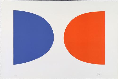 Blue and Orange from Suite of Twenty-Seven Color Lithographs, 1964 - Ellsworth Kelly