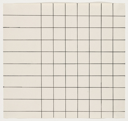 Grid Lines from the series Line Form Color, 1951 - Ellsworth Kelly