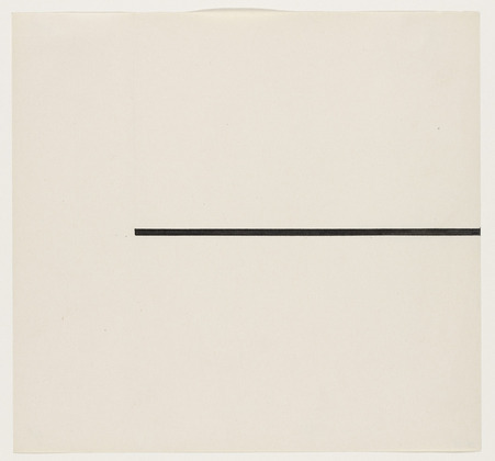 Horizontal Line, 1951 - Ellsworth Kelly