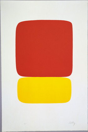 Red over Yellow from Suite of Twenty-Seven Color Lithographs, 1965 - Ellsworth Kelly